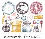 desserts cooking process... | Shutterstock .eps vector #1715466130