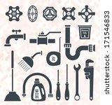 vector set  plumbing service... | Shutterstock .eps vector #171546833