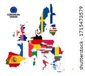 map of european union member... | Shutterstock .eps vector #1715473579