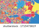 colorful vector map of tonal  ... | Shutterstock .eps vector #1715473819