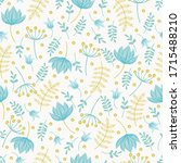 vector seamless  pattern with ... | Shutterstock .eps vector #1715488210