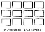 grunge frame border set vector... | Shutterstock .eps vector #1715489866