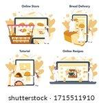 baker and bakery online service ...   Shutterstock .eps vector #1715511910