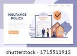 homeowner's insurance web... | Shutterstock .eps vector #1715511913