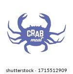 crab meat logo  symbol or label ...   Shutterstock .eps vector #1715512909