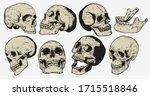 skull vintage engraving style... | Shutterstock .eps vector #1715518846