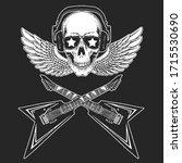 rock music festival. skull with ...   Shutterstock .eps vector #1715530690