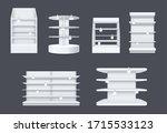 store shelves with wobbler... | Shutterstock .eps vector #1715533123
