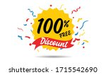 100 percent off reduction... | Shutterstock .eps vector #1715542690