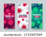 set of coronavirus background.... | Shutterstock .eps vector #1715547349