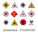 set of warning and danger sign...   Shutterstock .eps vector #1715557159