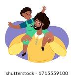 happy smiling african dark skin ... | Shutterstock .eps vector #1715559100