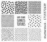 Set Of Hand Drawn Seamless...