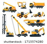 construction heavy machinery... | Shutterstock .eps vector #1715574280
