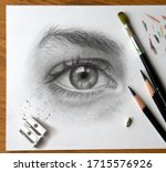 Realistic drawing of a human...