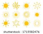 flat sun icon. sun pictogram.... | Shutterstock .eps vector #1715582476