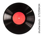 Black Vinyl Record Isolated On...