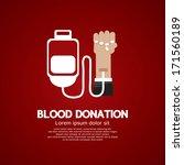 blood donation | Shutterstock .eps vector #171560189