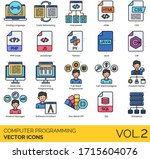 computer programming icons...   Shutterstock .eps vector #1715604076