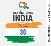 stay strong india against covid ... | Shutterstock .eps vector #1715624770