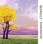 autumn tree | Shutterstock . vector #17156428