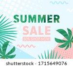 summer sale vector illustration.... | Shutterstock .eps vector #1715649076