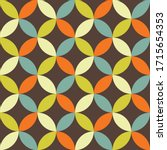 abstract retro vector pattern.... | Shutterstock .eps vector #1715654353
