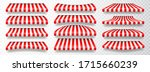realistic striped shop sunshade.... | Shutterstock .eps vector #1715660239