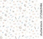 doodle back to school icons... | Shutterstock .eps vector #1715665486