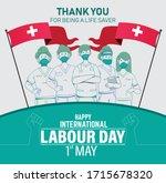 happy international labour day... | Shutterstock .eps vector #1715678320
