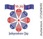 happy independence day   fourth ... | Shutterstock .eps vector #1715698450