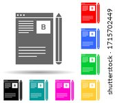 blog management multi color...