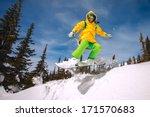 snowboarder jumping through air ... | Shutterstock . vector #171570683