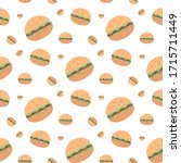 fast food seamless pattern on a ...   Shutterstock . vector #1715711449