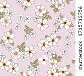 all over white vector flowers...   Shutterstock .eps vector #1715713756