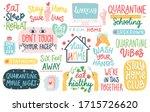 coronavirus covid 19 letterings ... | Shutterstock .eps vector #1715726620