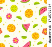 vector seamless pattern with... | Shutterstock .eps vector #1715731789