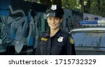 Happy Female Police Officer...