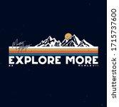 typographic mountain... | Shutterstock .eps vector #1715737600