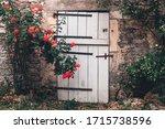Old Wooden Door Of The Stone...
