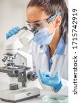 Female Lab Technician In...