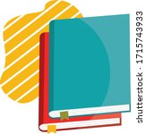 stack of two colorful books...   Shutterstock .eps vector #1715743933