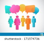 people icons with talking... | Shutterstock .eps vector #171574736