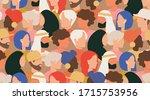 crowd of people seamless vector ... | Shutterstock .eps vector #1715753956