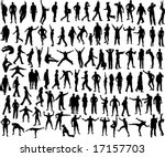 set of many different people... | Shutterstock .eps vector #17157703