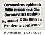 coronavirus pandemic crisis... | Shutterstock .eps vector #1715772796