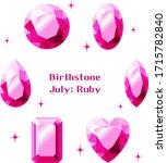 july birthstone  ruby... | Shutterstock .eps vector #1715782840