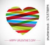 vector modern heart... | Shutterstock .eps vector #171578894