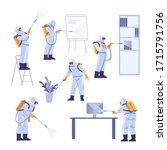 professional contractors doing...   Shutterstock .eps vector #1715791756