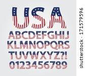 flag of united states alphabet...   Shutterstock .eps vector #171579596